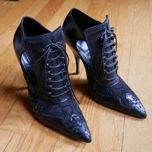 Givenchy black bottine brogue booties size 37